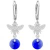Cercei Albinute - Cristale Swarovski Majestic Blue