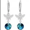 Cercei Albinute - Cristale Swarovski Bermuda Blue