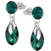 Cercei Hera -  Cristale Swarovski Verde Smarald
