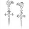 Cercei Crucifix - Cristale Swarovski Crystal F