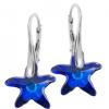 Cercei Starfish Bermuda Blue - Cristale Swarovski