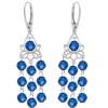 Cercei Blue Chandelier - Cristale Swarovski
