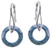 Cercei Marbled Blue - Cristale Swarovski