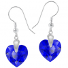 Cercei Cuore - Inimioare Swarovski Majestic Blue