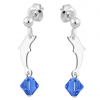 Cercei Delfini - Cristale Swarovski Albastru Safir