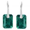 Cercei Vinkel - Cristale Swarovski Emerald