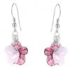 Cercei Cristale Swarovski - Pink Flowers