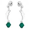 Cercei Delfini - Cristale Swarovski Emerald