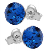 Cercei Cristale Swarovski Xirius - Capri Blue 7 mm