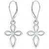 Cercei Cruciulite - Cristale Swarovski White Opal
