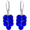 Cercei Cristale Swarovski Majestic Blue