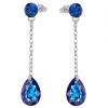 Cercei Estela - Cristale Swarovski Bermuda Blue