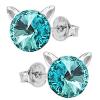 Cercei Pisicute - Cristale Swarovski Light Turquoise