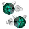 Cercei Pisicute - Cristale Swarovski Emerald