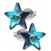 Cercei Stelute Bermuda Blue - Cristale Swarovski