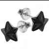 Cercei Stelute Negru Jet - Cristale Swarovski