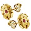 Cercei Trandafiri - Cristale Swarovski Rosu Siam