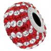 Charm Swarovski® Red & White