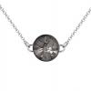 Colier Sea Urchin - Cristal Swarovski Silver Night - Designer Edition Céline Cousteau