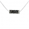 Colier Rocks Tube Silver Night - Cristale Swarovski