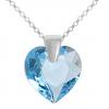 Colier Inimioara - Cristal Swarovski Aquamarine