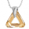 Pandantiv Triangle Golden Shadow - Cristal Swarovski