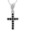 Pandantiv Cruciulita - Zirconii Negre