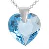 Pandantiv Inimioara - Cristal Swarovski Aquamarine
