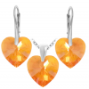 Set Inimioare Tangerine - Cristale Swarovski